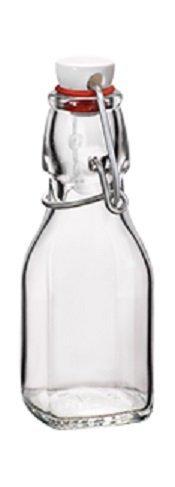 Bormioli Rocco Swing Top Square Glass 4.25 ounce Bottle - 20