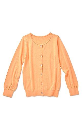 (フェリシモ) リブ イン コンフォート UVカット 吸汗速乾素材の さわやかカーディガン レディース ライトオレンジ