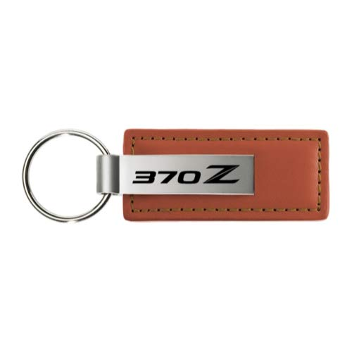 Nissan 370Z Logo Brown Leather Key Chain KC1541.370 INC Au-Tomotive Gold