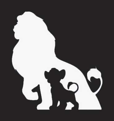 Lion King Simba Mufasa NOK Decal Vinyl Sticker|Cars Trucks Vans Walls Laptop|White|5.5 x 5.1 in|NOK028