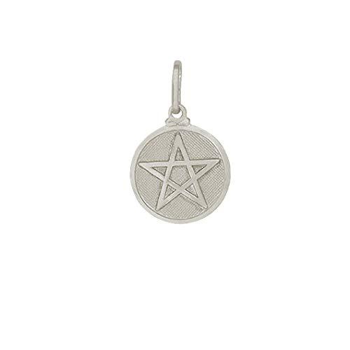 Pingente prata medalha estrela