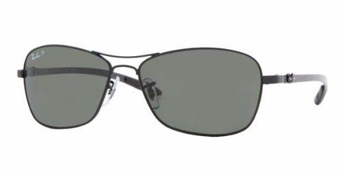 6024b4c15c1 Ray-Ban 8302 002 N5 Matte Black 8302 Carbon Fibre Aviator Sunglasses  Polarised Lens Category 3P  Amazon.co.uk  Clothing