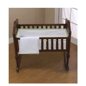 Amazon Com Forever Mine Cradle Bedding With Green Trim