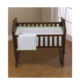Babykidsbargains Forever Mine Cradle Bedding, Green Trim, 18