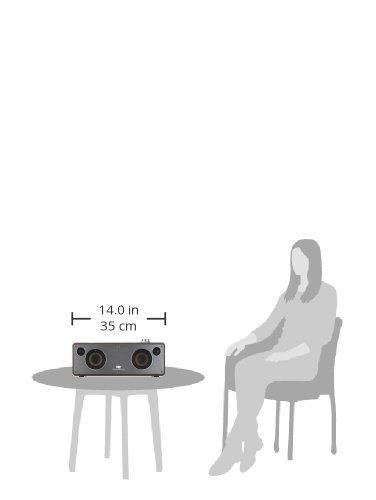 WiFi Bluetooth Speaker, GGMM Smart WiFi Speaker for Streaming Music, HiFi Audio Stereo Surround Powerful Bass Speaker, AirPlay Speaker Wooden Cabinet (Coffee)