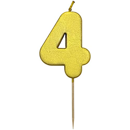 - TriCloud Numeral Candles for Birthday Cake Decoration - Cupcake Toppers for Adornment   Party Supplies for Wedding and Kids Theme Party