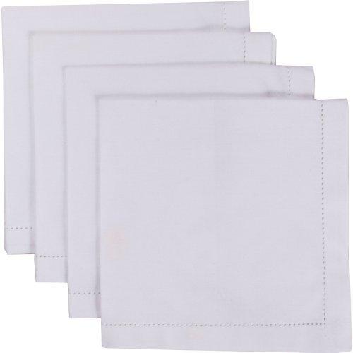 Now Designs Set of 4 Hemstitch Napkins White [並行輸入品]   B079VR12D7