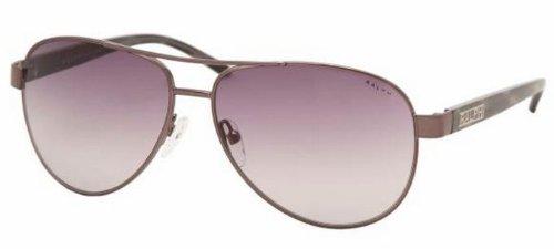 Ralph By Ralph Lauren Women's 0ra4004 Aviator Sunglasses, Gunmetalgrey Horn, 59.0 Mm