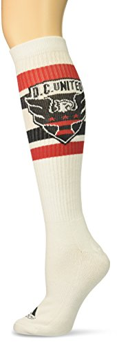adidas MLS D.C. United Women's Knee Socks, One Size, White