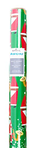 Hallmark Mahogany Christmas Wrapping Paper with Cut Lines on Reverse, Jazzy Santa (45 sq. ft.) ()