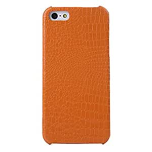 GJY Small Crocodile Pattern Dragon Jun Series Leather Case for iPhone 5S , Yellow