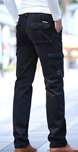 Elastica Pantaloni Uomo Tratto Softshell Traspirante 5all Da Confortevole Carico Impermeabile Vita Sportivi Funzionali Tasche Esterno HRqU1