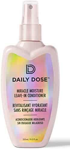 Daily Dose Miracle Moisture Spray Leave-In Conditioner Detangler (8.5oz) Paraben Free, Phthalates Free, Cruelty Free, Vegan