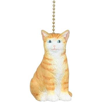 Here Kitty Kitty Orange Tabby Kitten Cat Ceiling Fan Light
