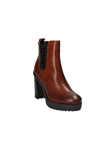 Brun Hilfiger Talons En0en00244 Boots Tommy Femmes À IYCzqIdgw