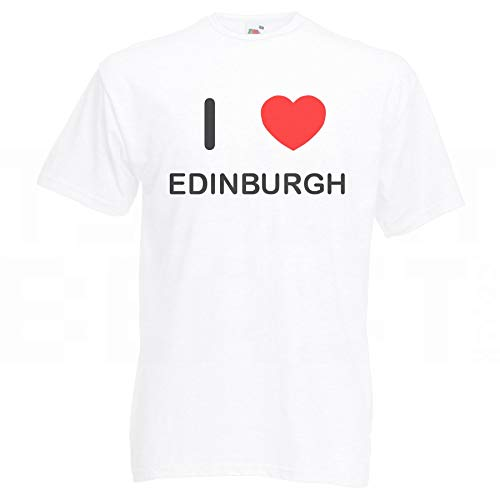Maglietta Love Bianca I uk Edinburgh co Badgebeast XwUqBvn