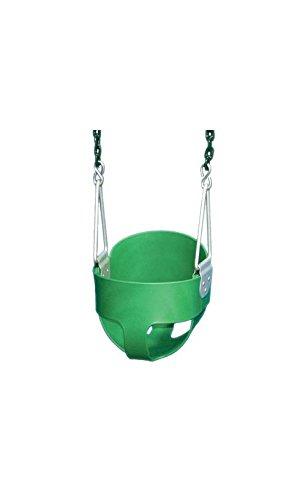 Gorilla Playsets Full Bucket Toddler Swing Color: Green