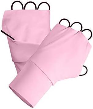BAJIMI UVカット手袋 手触りが良い ファッションUPF50 +指なし紫外線保護通気性滑り止め手袋 夏 ハンド ケア レディース/メンズ (Color : Orange, Size : L)