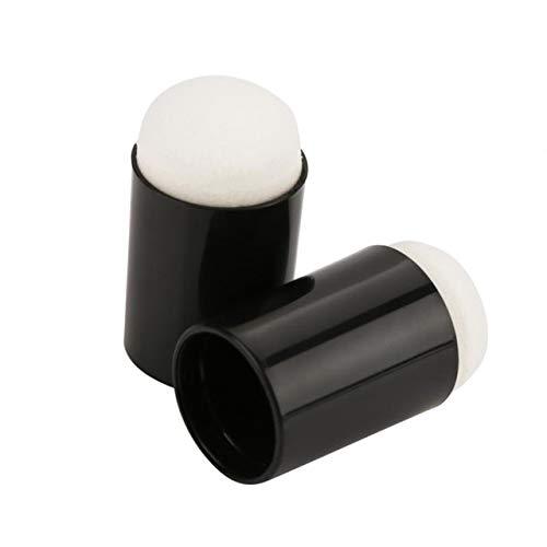 Dalab 40PCS/Set Sponge Finger Daubers Foam Finger Painting Craft Set Fingerpaint Drawing Sponge Foam Finger Drawing Ink Crafts Chalk - (Color: Black)