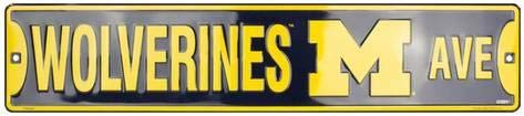 (KPSheng MI Univ. Wolverines Ave. 4 x 16 Retro Tin Sign)