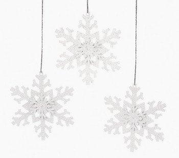 12 Metal Irridescent SNOWFLAKE Christmas Tree Ornaments/HOLIDAY DECORATIONS/DECOR/DOZEN
