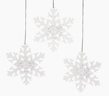 12 Metal Irridescent SNOWFLAKE Christmas Tree Ornaments/HOLIDAY DECORATIONS/DECOR/DOZEN