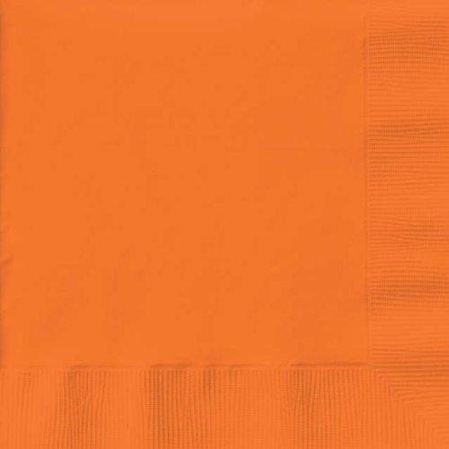 Sunkissed Orange Paper Dinner Napkins