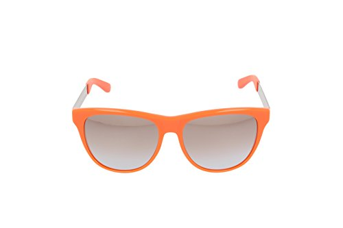 Marc By Marc Jacobs Lunettes De Soleil Oversize En Bleu Mmj408s 6wc 55 Orange Smoke Grey