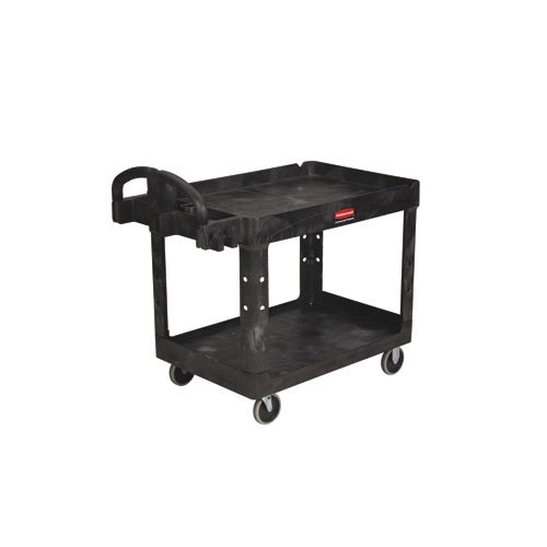 RCP454610BLA - Heavy-Duty 2-Shelf Utility Cart