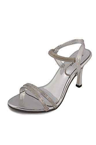 Bell One Womens Silver Leather Casual Sandals 10 UK