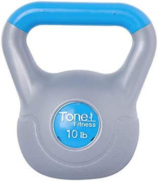 Tone Fitess Cement Filled Kettlebell, 10 Pounds