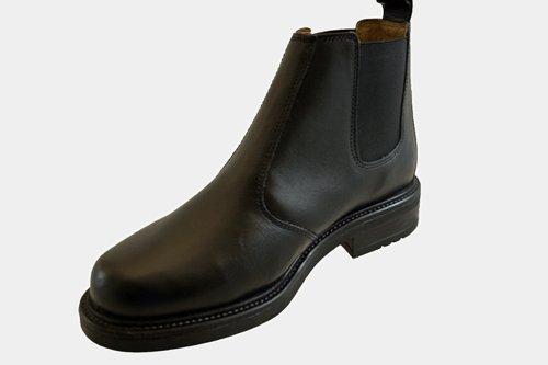 Roamer - Botas de cuero para hombre negro negro
