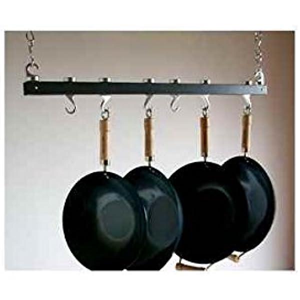 Taylor Ng Track Ceiling Pot Rack 36 Anthracite Grey Kitchen Pot Racks Kitchen Dining Amazon Com
