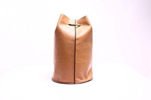 Dark Beige Leather Handmade Backpack