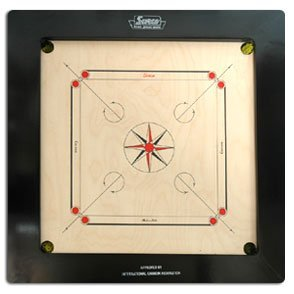 Surco-Champion-Speedo-Carrom-Board-with-Coins-and-Striker-20mm