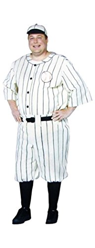 Old Tyme Baseball Player Adult Costume Size: Plus
