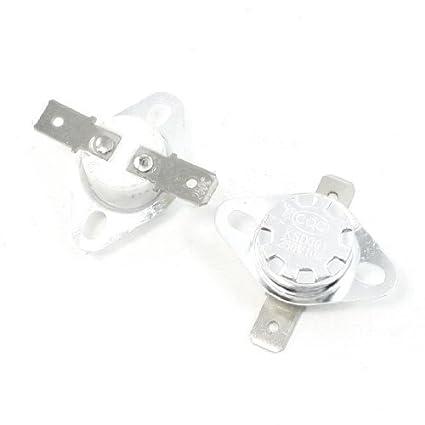 2pcs 250Celsius NC 2 Pin KSD301 Modelo cerâmica termostato 10A AC250V - - Amazon.com
