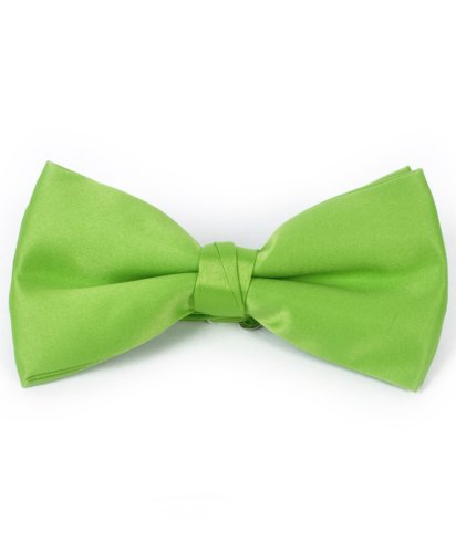 (Men's Solid Banded Bow Ties (Neon Green))