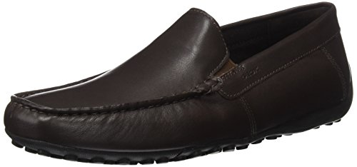 Geox Uomo Snake Mocassino B, Mocasines Para Hombre Marrón (Coffee)