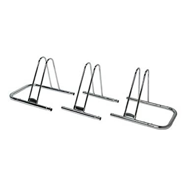 Stoneman Sports QSP-618-3 Sparehand Freestanding 3-Bike Parking Stand for All Frame Types, Grey Finish