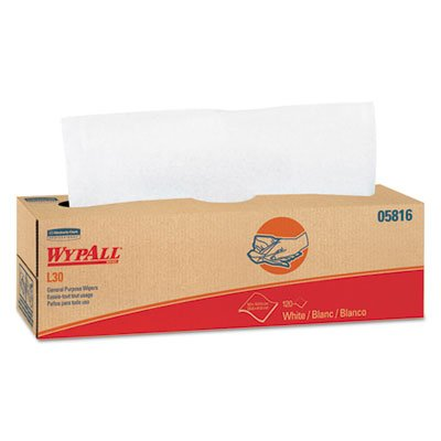 KIMBERLY CLARK CONSUMER WYPALL L30 Wipers, 9 4/5 x 16 2/5, 120/Box, 6 Boxes/Carton (5816) ()