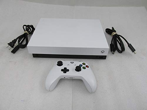 Microsoft Xbox One X White Limited Edition 1TB Console with Wireless Controller - True 4K HDR Gaming, Xbox One X Enhanced Support