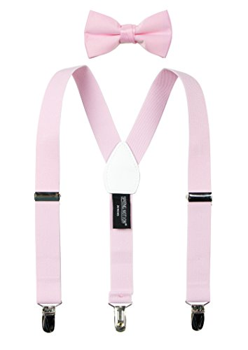 Spring Notion Boys' Suspenders and Solid Color Bowtie