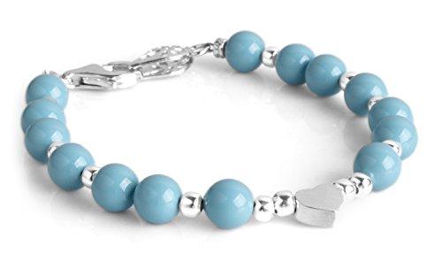 Bracelet Swarovski Pearl Silver Heart Edition Runway 9104KB (14) by Cloisonnekorea