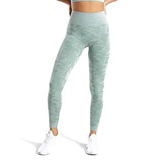 MOYOOGA Camo Seamless Leggings High Waist Workout Leggings for Women Gym Yoga Pants (Medium, Sage Green)