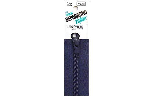 """YKK Ziplon 1-Way Separating Zipper, 12"""", Navy"""