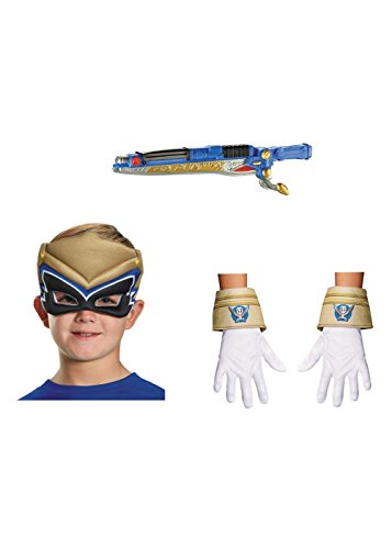 Power Rangers Boys Mask Gloves and Weapon Set (Ranger Adult Accessory Kit)