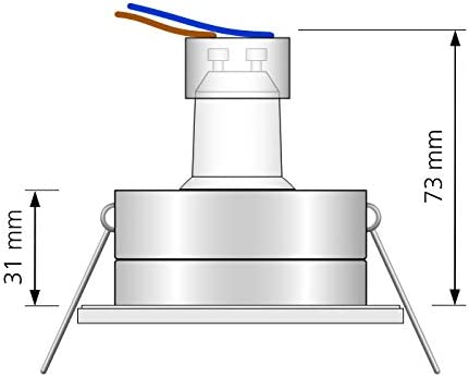 Ledox Led Bad Einbaustrahler Set IP65 inkl. Einbaurahmen Lista Aqua Aluminium gebürstet 230V 7W GU10 mit 60° Abstrahlwinkel - 50 Watt Ersatz mit Ra>93 (3er Set 2700K warmweiß)