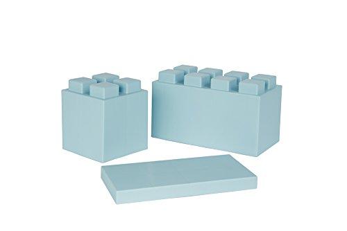 EverBlock Modular Building Blocks Combo Pack, Light Blue, 26 Block