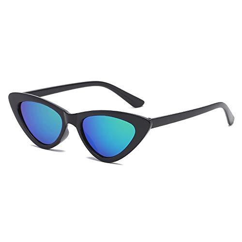FOURCHEN Retro Vintage Narrow Cat Eye Sunglasses for kids Clout Goggles Plastic Frame (black BG) (Vintage Ovale Gläser)